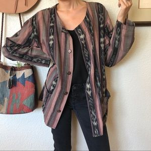 Vintage 80s Oversize Art Teacher Cardi